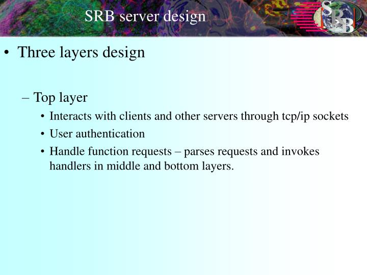 SRB server design