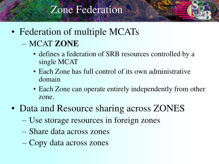 Zone Federation