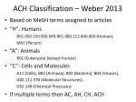 ach classification weber 2013