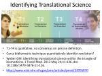 identifying translational science