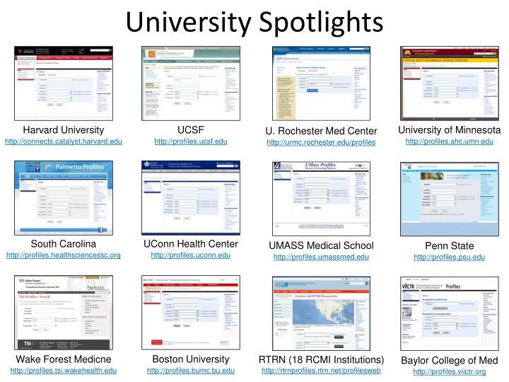 University Spotlights