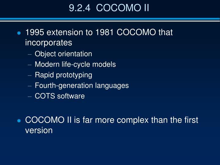 9.2.4  COCOMO II