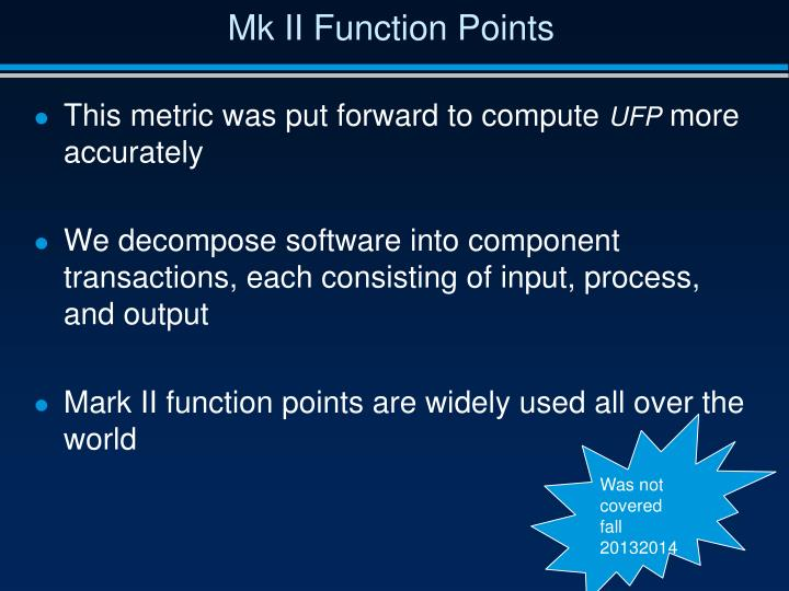 Mk II Function Points