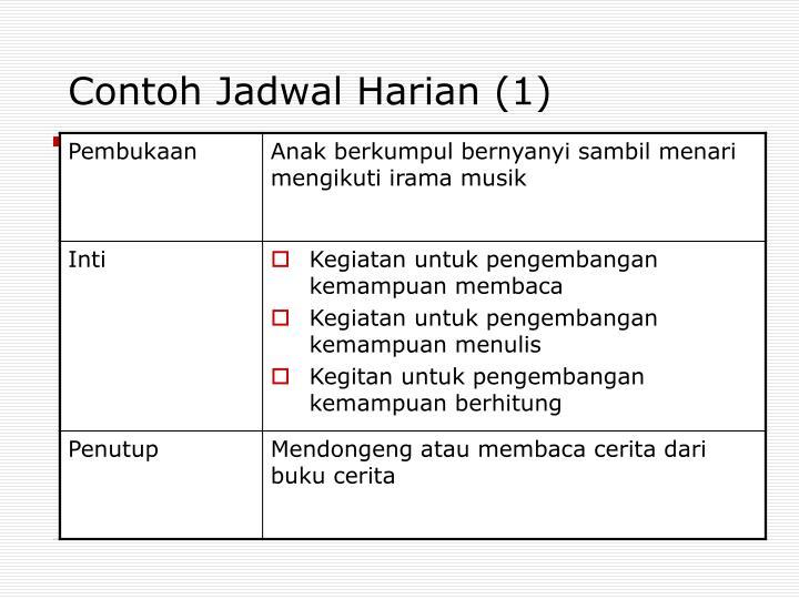 Contoh Jadwal Harian (1)