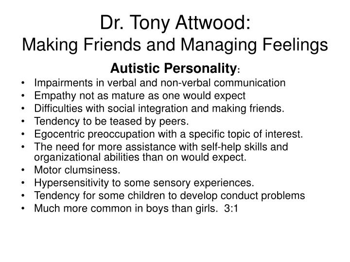 Dr. Tony Attwood:
