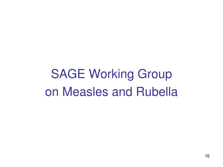 SAGE Working Group