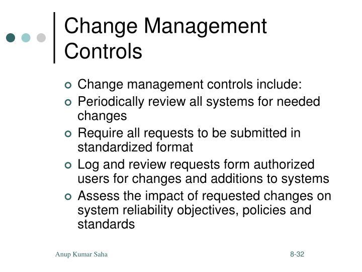 Change Management Controls