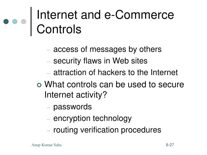 Internet and e-Commerce Controls