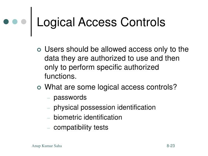 Logical Access Controls