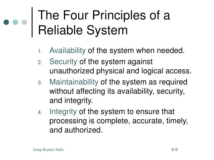 The Four Principles of a Reliable System
