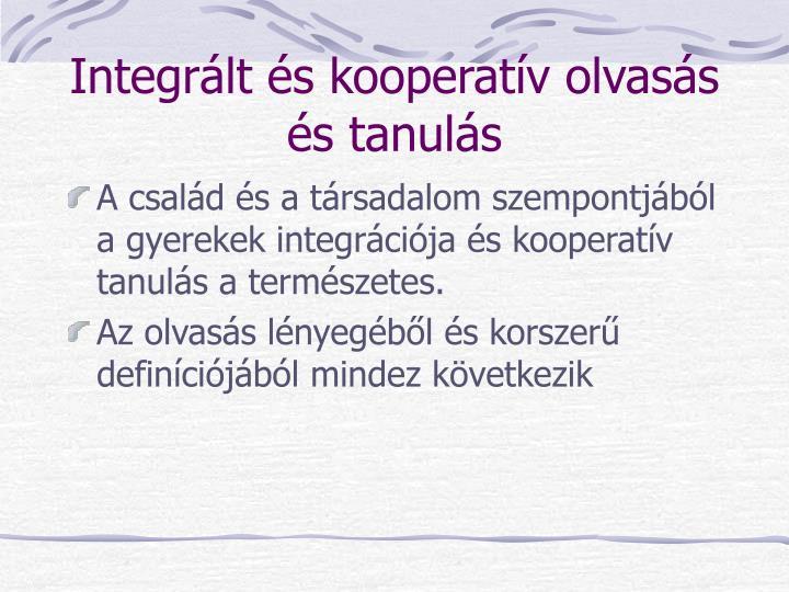 Integrált és kooperatív olvasás és tanulás