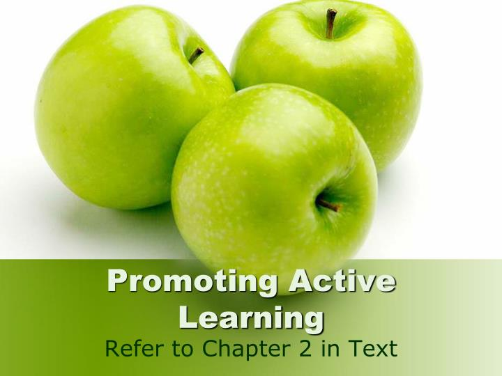 Promoting active learning