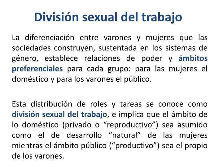 División sexual del trabajo