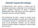 divisi n sexual del trabajo