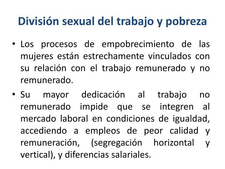 División sexual del trabajo y pobreza