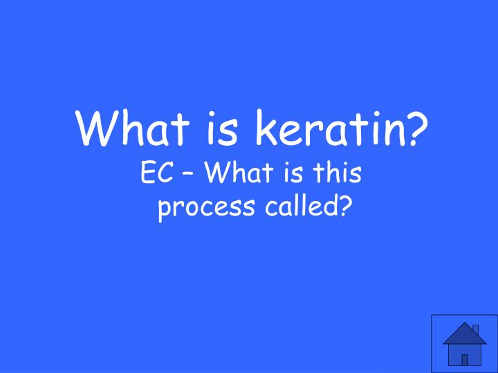 What is keratin?