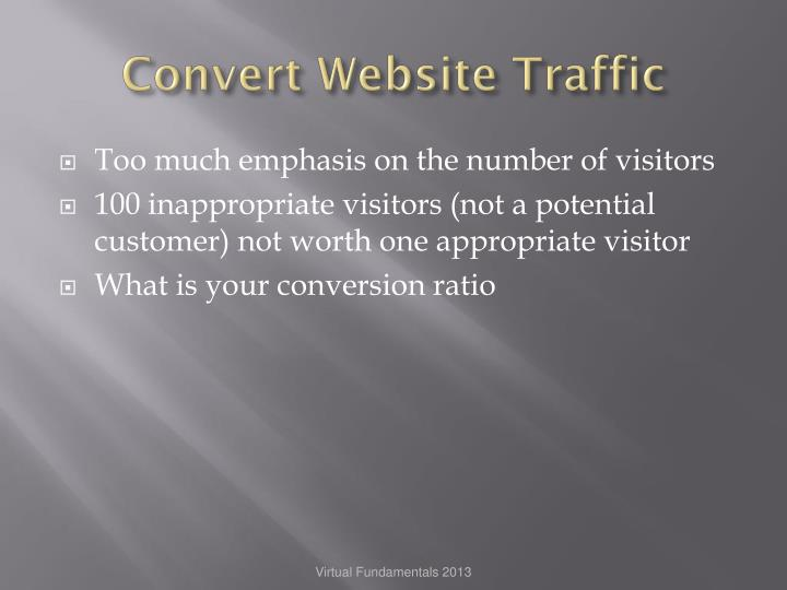 Convert Website Traffic
