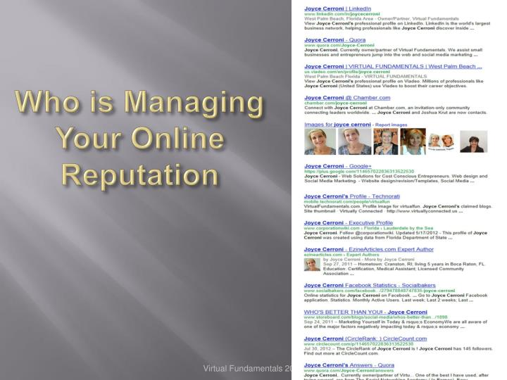 Who is Managing Your Online Reputation