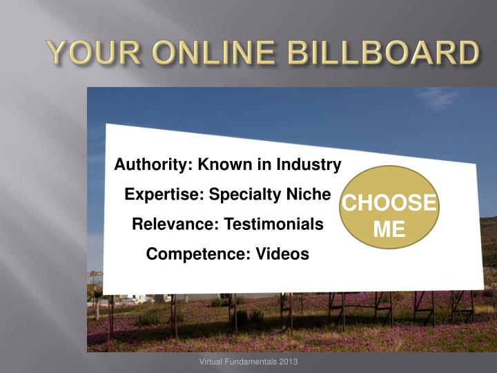 YOUR ONLINE BILLBOARD