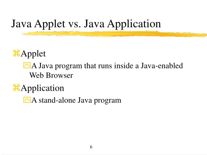 Java Applet vs. Java Application