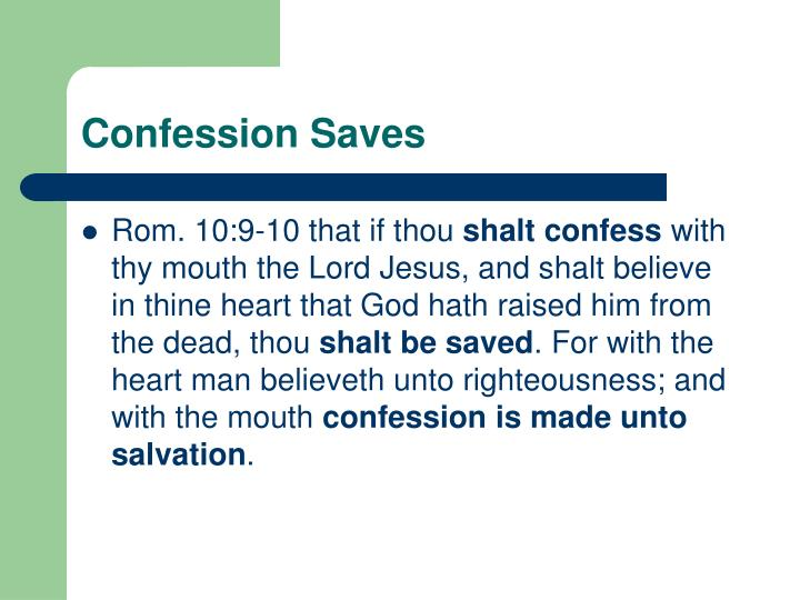 Confession Saves