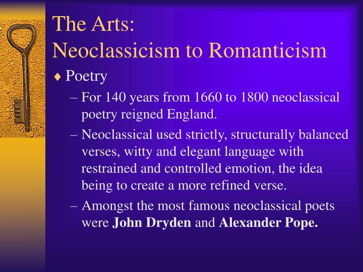 neoclassical poetry The neoclassical growth theory is an economic concept where equilibrium is achieved by varying the amount of labor and capital in the production function.