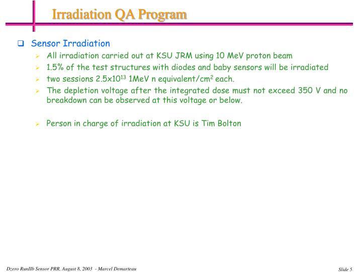 Irradiation QA Program