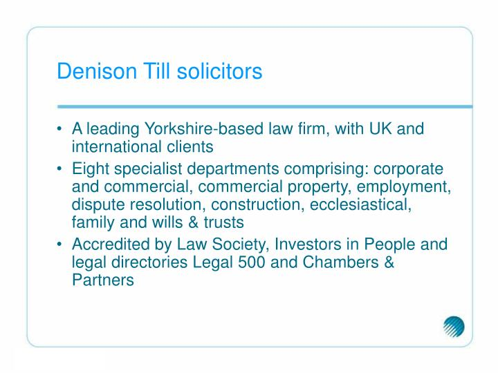 Denison Till solicitors