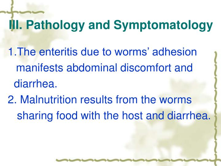 III. Pathology and Symptomatology