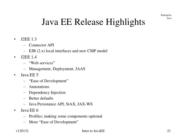 Intro to JavaEE
