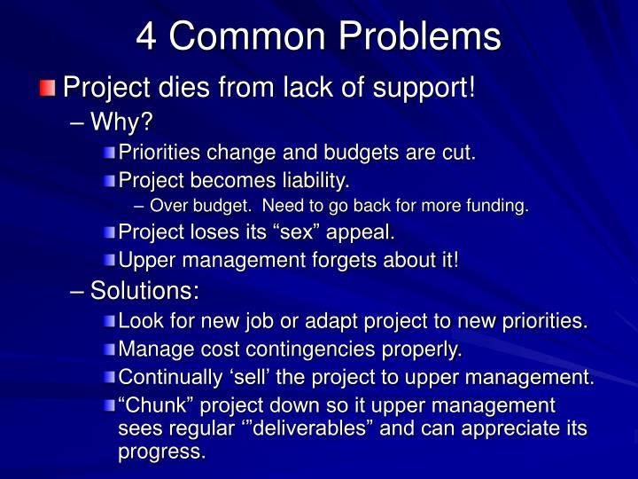 4 Common Problems
