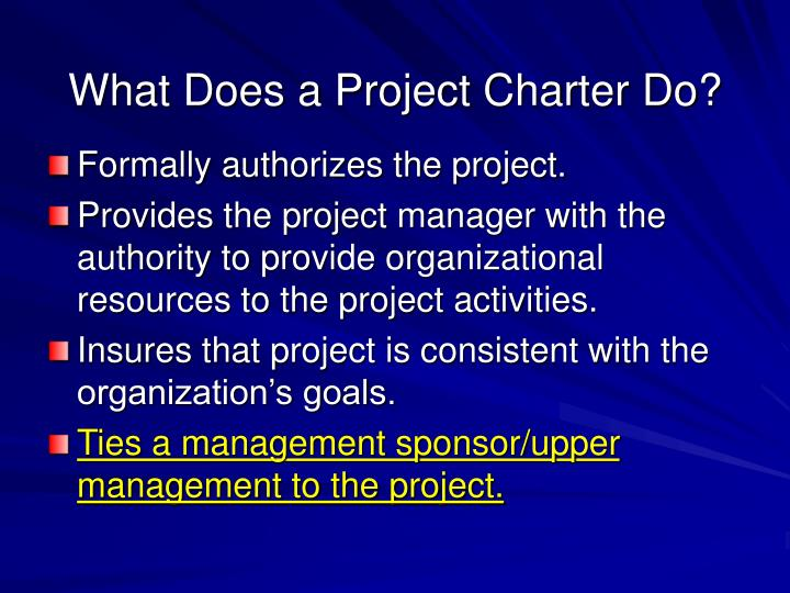 What Does a Project Charter Do?