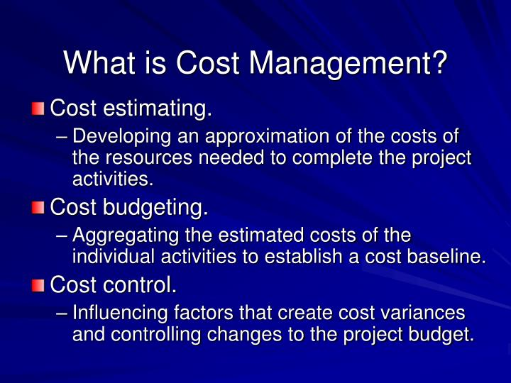 What is Cost Management?