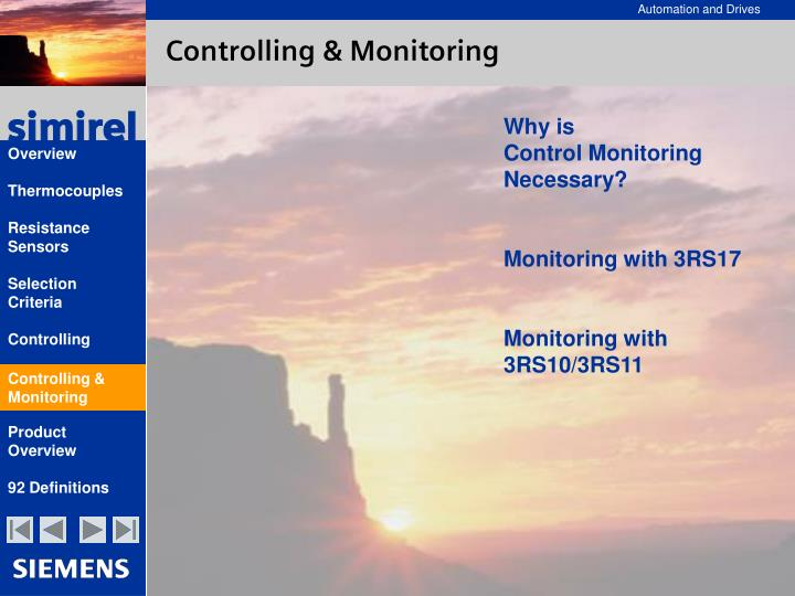 Controlling & Monitoring