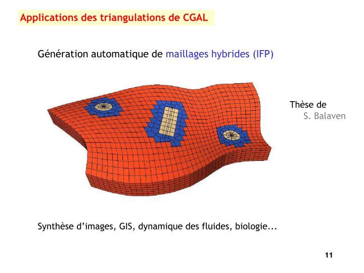 Applications des triangulations de CGAL