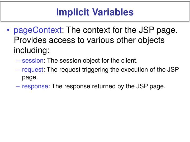 Implicit Variables