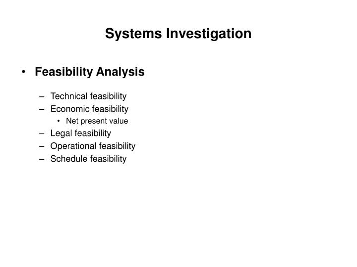 Systems Investigation
