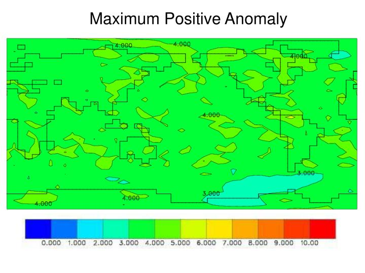 Maximum Positive Anomaly
