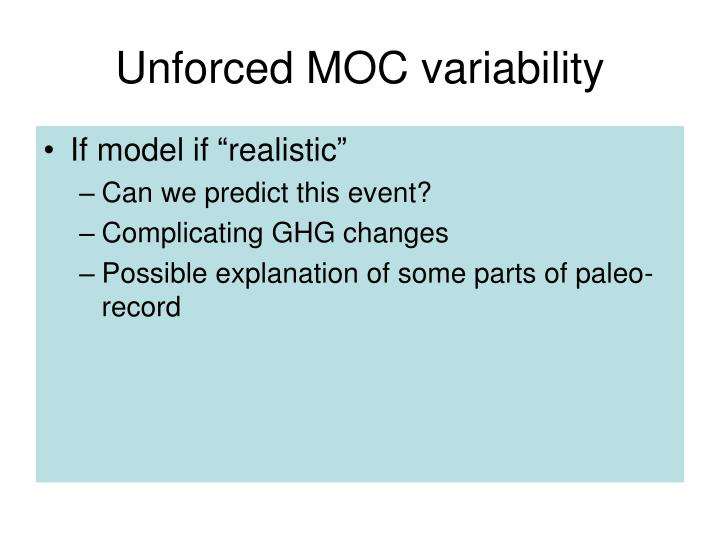 Unforced MOC variability