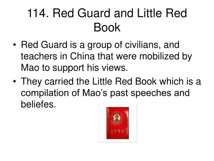 114. Red Guard and Little Red Book