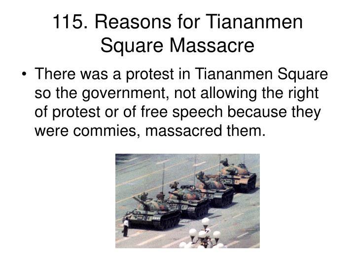 115. Reasons for Tiananmen Square Massacre