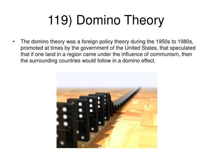 119) Domino Theory