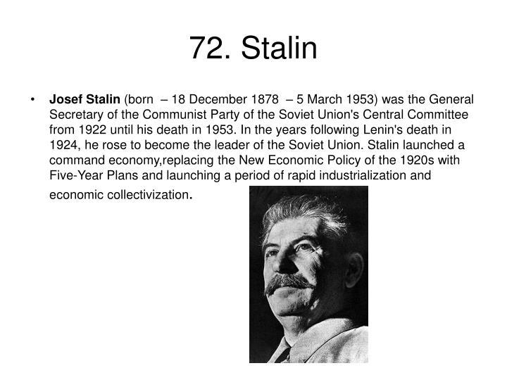 72. Stalin