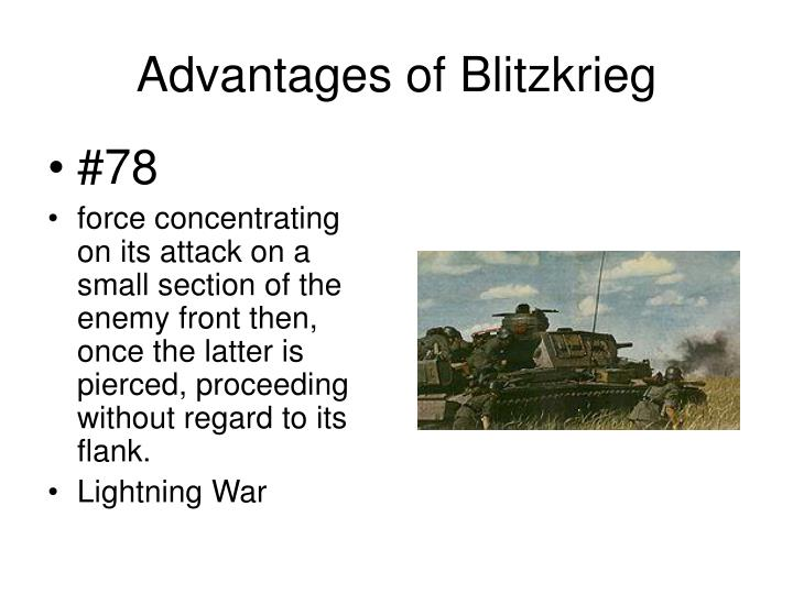 Advantages of Blitzkrieg