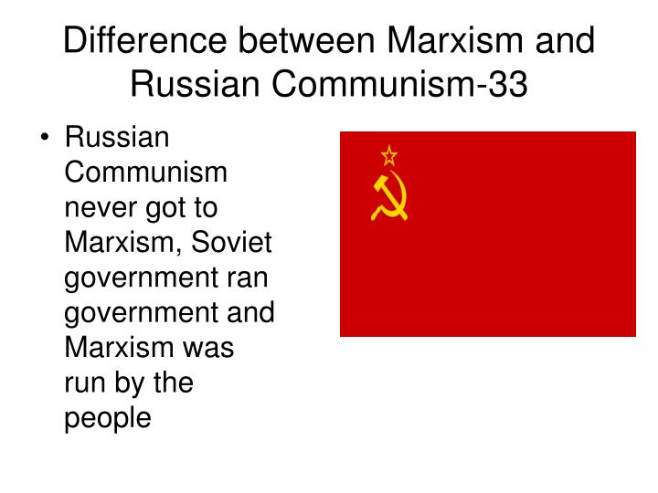 Difference between Marxism and Russian Communism-33