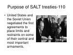 purpose of salt treaties 110