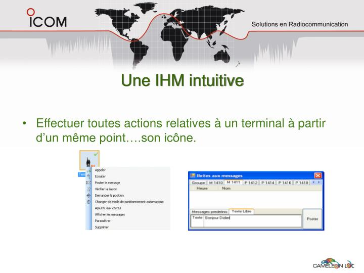 Une IHM intuitive