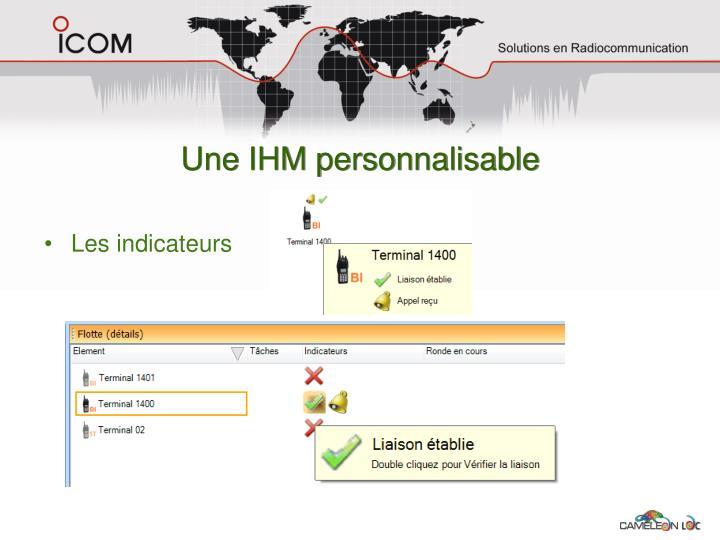Une IHM personnalisable