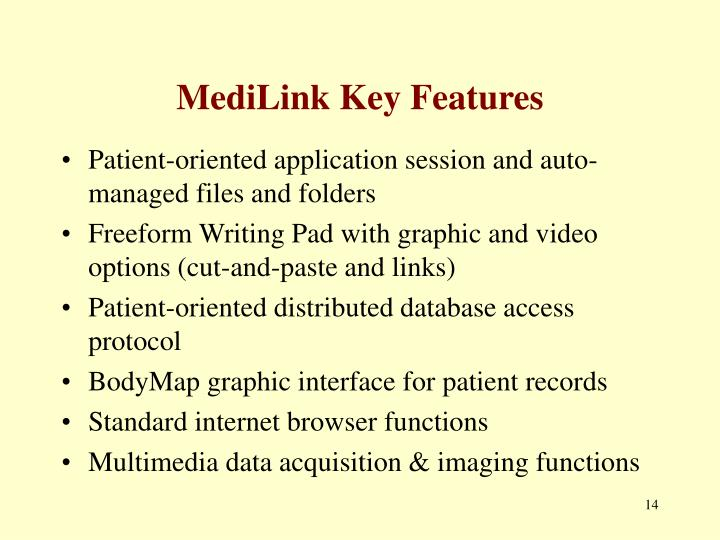 MediLink Key Features