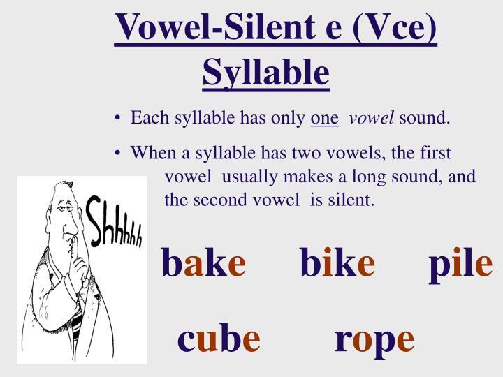 Vowel-Silent e (Vce)